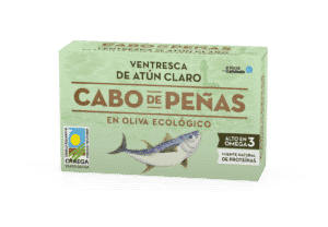 Filetes de ventresca de atún claro en aceite de oliva virgen extra ecológico OL-120