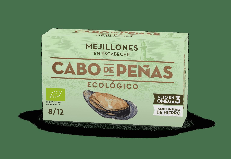 Mejillones ecológicos en escabeche 8-12 OL-120