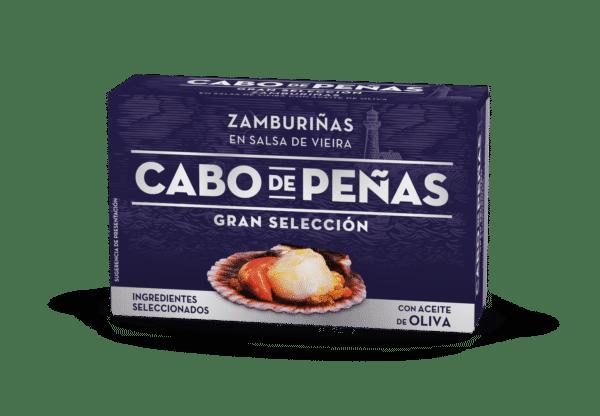 Zamburiñas en salsa de vieira con aceite de oliva OL-120