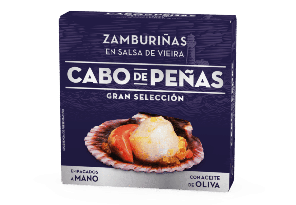 Zamburiñas en salsa de vieira con aceite de oliva RO-150