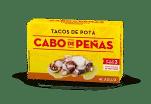 Tacos de pota al ajillo OL120